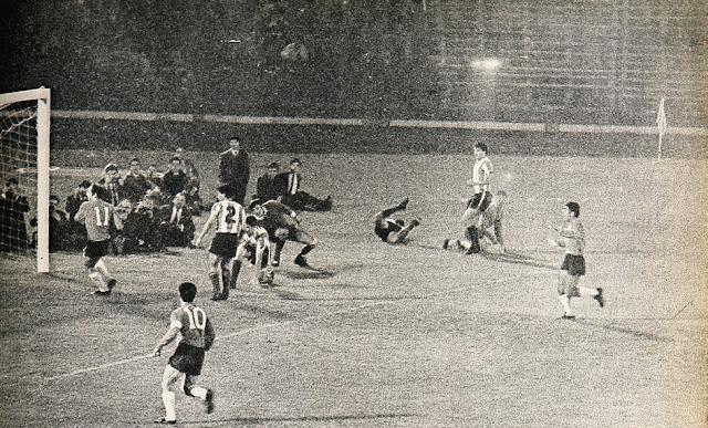 Chile y Argentina en partido amistoso, 8 de noviembre de 1967