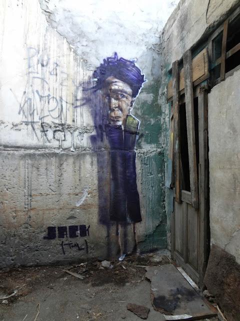 Street Art By Israeli Urban Artist Jack TML on the streets of Tel Aviv, Israel. 2