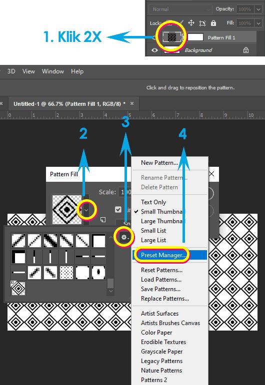 Cara menyimpan Pattern Photoshop