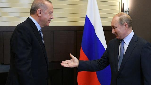 Νέα τηλεφωνική συνομιλία Ερντογάν και Πούτιν για τη βορειοανατολική Συρία