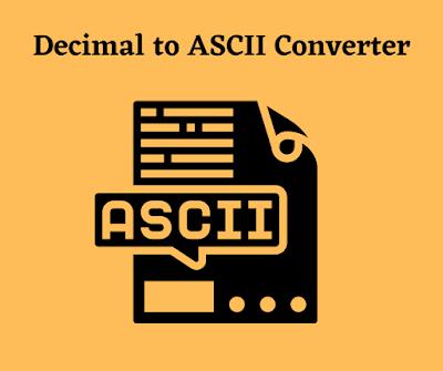 Technovichar_Decimal_To_ASCII_Value