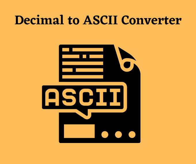 Decimal to ASCII Converter