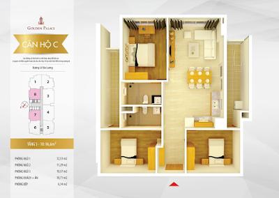 Mặt bằng thiết kế căn hộ số 7-8