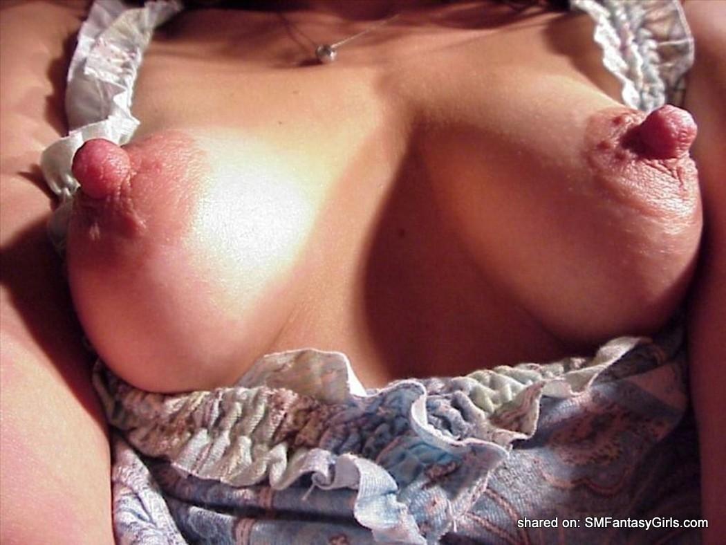 Her long nipples