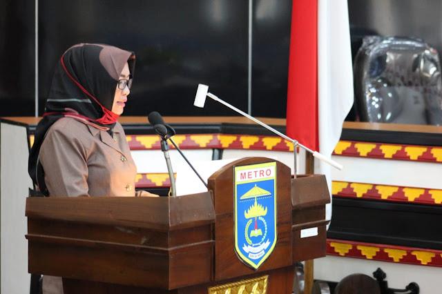 DPRD Kota Metro Soroti LKPJ Walikota di Rapat Paripurna