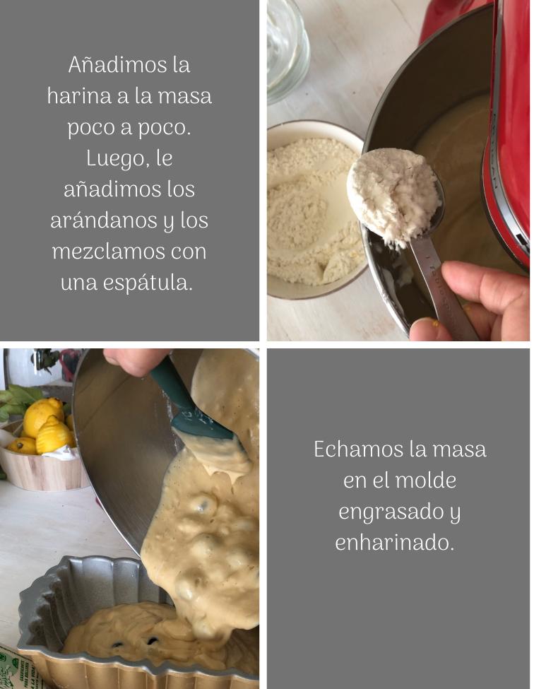 preparación-bizcocho-sencillo-de-limon-y-arandanos-con-yogur