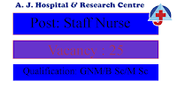 Staff nurse vacancy in mangalore - AJ Hospital