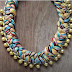 Quick and Easy Statement Necklace Tutorials Using Braided Thread Bundles