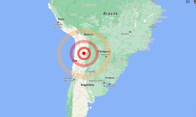 Terremoto tra Argentina e Cile