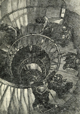 The Monument staircase from above from History of the Monument by C Welch (1893)
