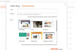 cara membuat blog bagi pemula gratis di blogspot