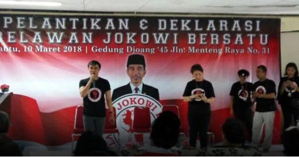 Relawan Jokowi Bersatu Deklarasi Tanpa Diongkosi