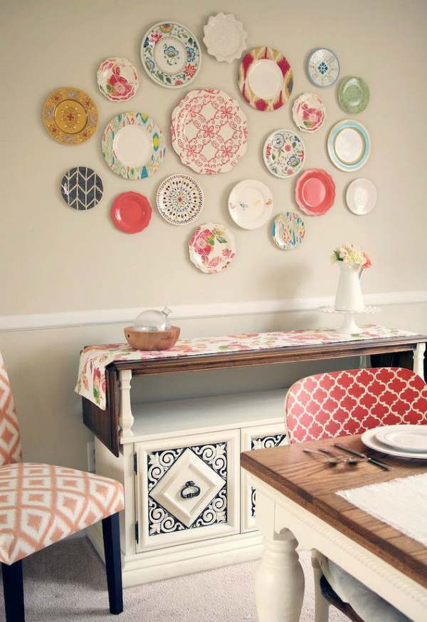Ceramic Plate Wall Decor, Best out of waste decor ideas