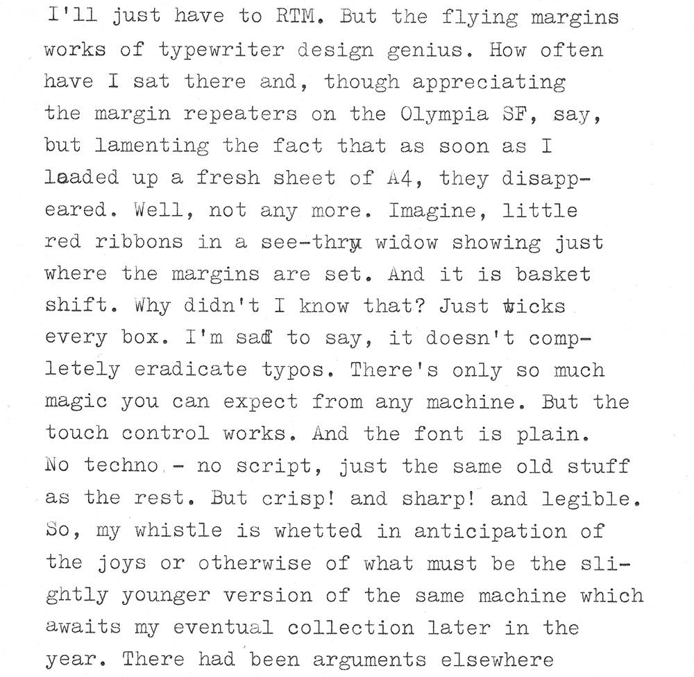 Typewriter Heaven: How do you like my new typewriter*