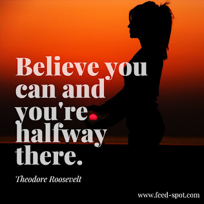 Believe you can and you're halfway there. __ Theodore Roosevelt
