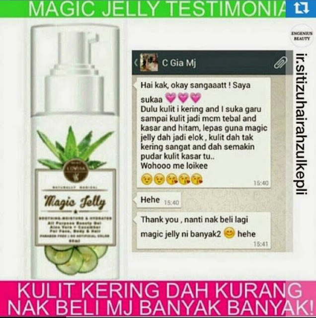 Magic Jelly Lovera 1 Botol Pelbagai Kegunaan , magic jelly new enhanced formula, lovera, Magic Jelly Lovera, aleo vera