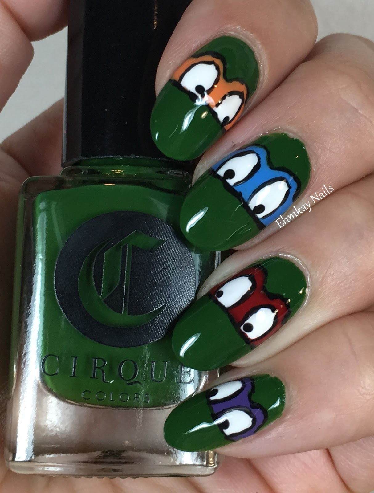 ehmkay nails: 80s Nail Art: Ninja Turtles Nail Art