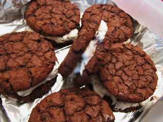 chocolate ice cream sandwiches homemade