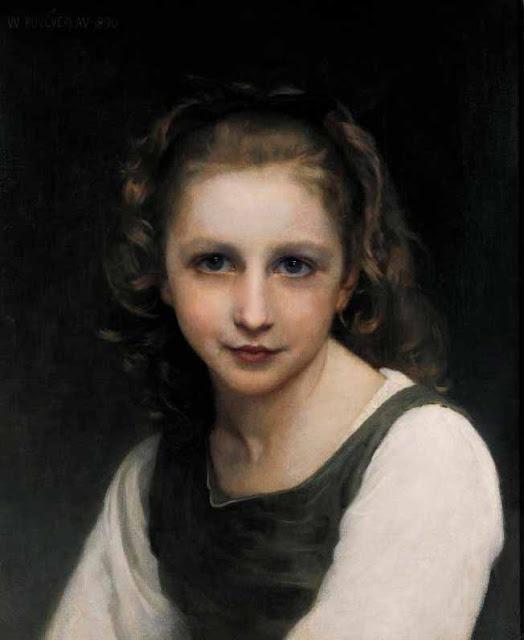 Адольф Вильям Бугро - Портрет молодой девушки
