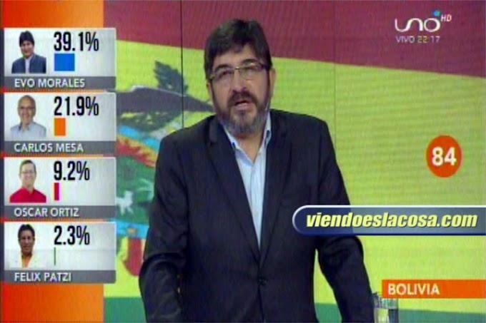 Ricardo Paz: Habrá SEGUNDA vuelta el 15 de diciembre en Bolivia