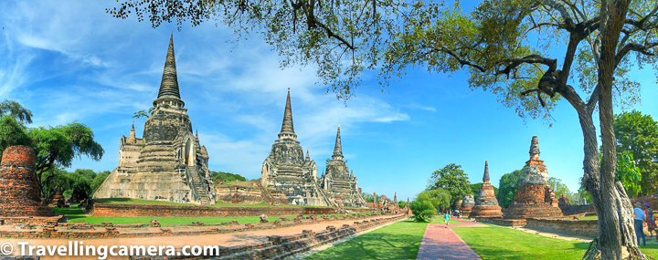 Although there are hundreds of temples in Ayutthaya but these are much more than temples and much about a historical site. Ayutthaya is a UNESCO World heritage site and that's announced because it has something very significant there. There are plenty of temples/wats in Ayutthaya town of Thailand and Wat Phra Si Sanphet is very special.     Wat Phra Si Sanphet was the holiest temple on the site of the old Royal Palace in Thailand's ancient capital of Ayutthaya until the town got destroyed by the Burmese. It seems that Wat Phra Si Sanphet was most beautiful temple in Ayutthaya and much grander in many ways. It seemed the same to me and I would say most appropriate place for photography in Ayutthaya.