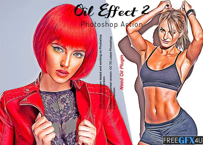 Oil Effect 2 Photoshop Action