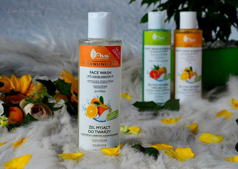 Ava Cleansing Line - Żel myjący do twarzy z Olejkiem Pomarańczowym