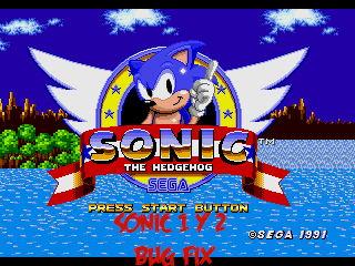 parches de mejora juegos sonic 1 y sonic 2 megadrive