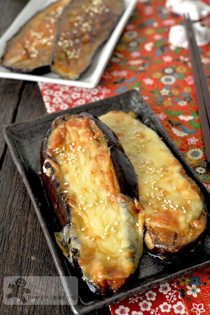 Japanese oven grilled miso eggplant nasu dengaku