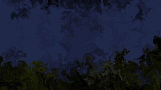 Night Comes Let's Take a Rest (Green, Black, and Blue) - Abstract Wallpaper Art With Black or Dark Color - Collection