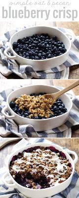 simple oat & pecan blueberry crisp