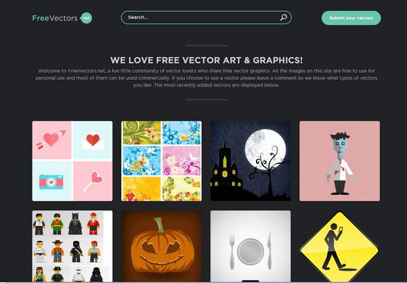 أفضل 10 مواقع لتحميل الفكتور مجانا موقع FreeVectors.net - مدونة Blog4Prog