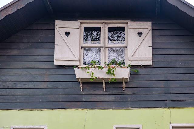 Detalhe da janela em uma casa