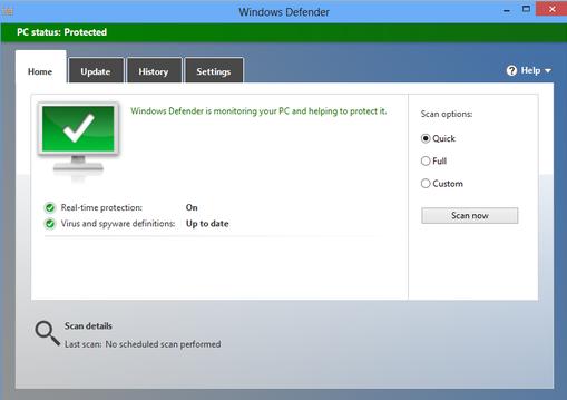 Tắt Windows Defender trên win 10