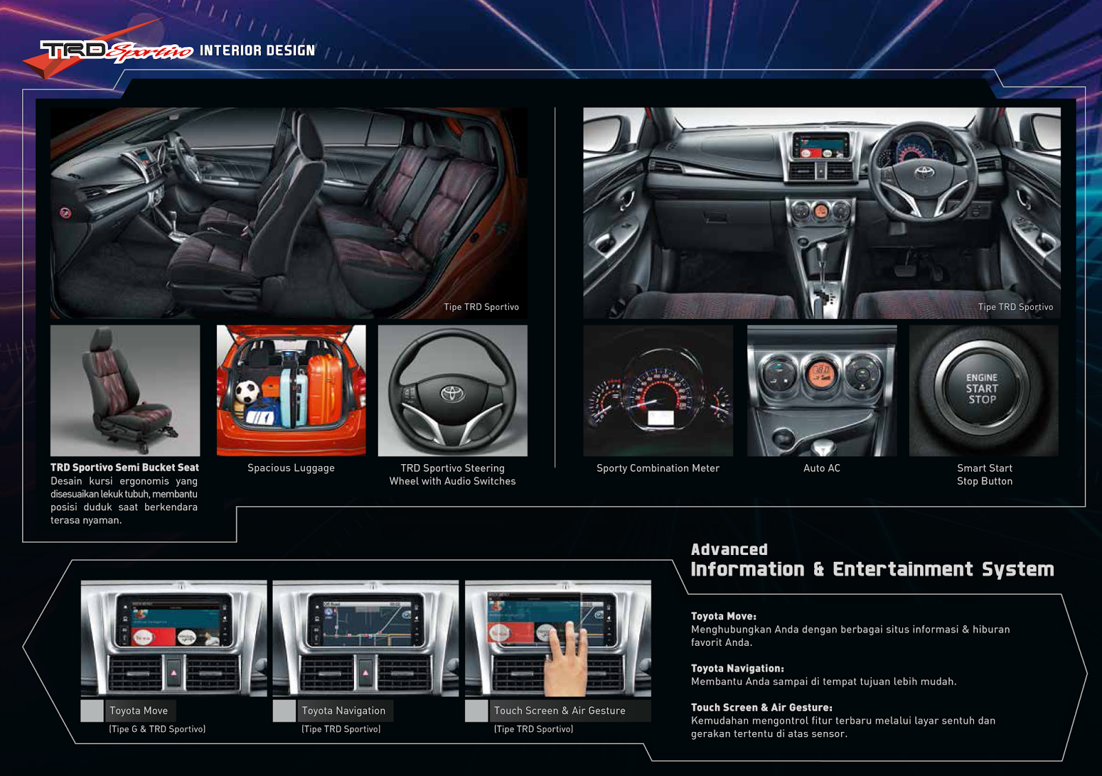 interior all new yaris trd sportivo kijang innova 2.0 v m/t lux toyota astra indonesia