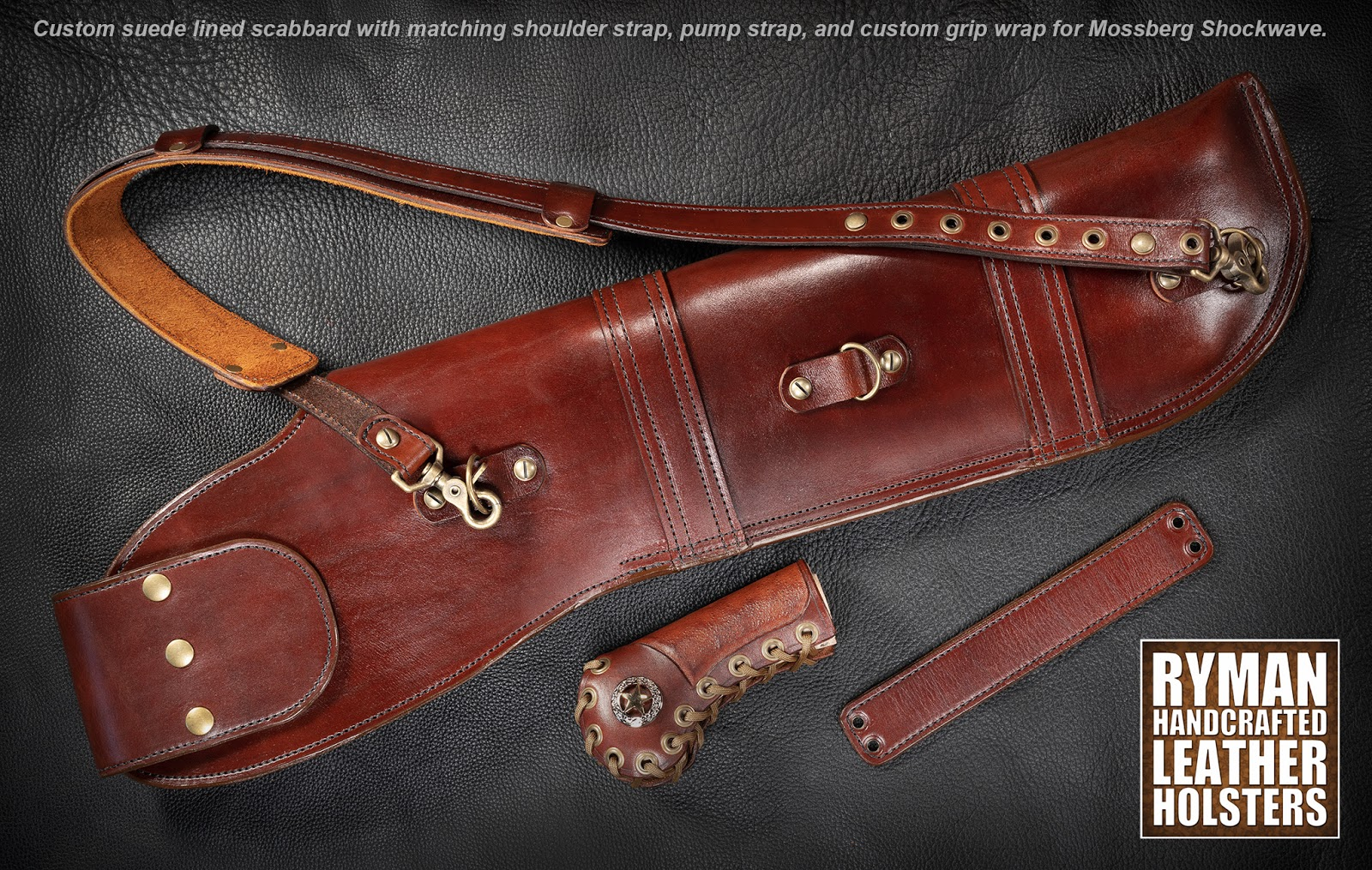 Custom Leather Shotgun Scabbard