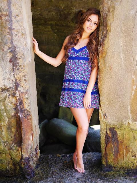 Mini Blue Flora Dress
