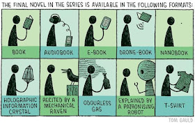 Meme de humor sobre los distintos formatos de libros