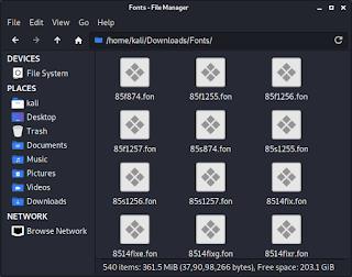 all fonts for Kali Linux