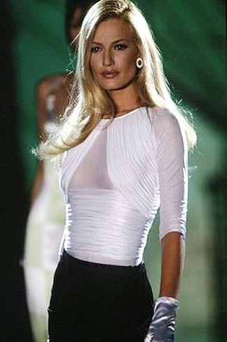 Versace - Camisa branca drapeada em seda