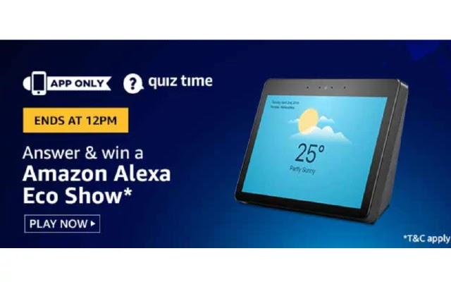 Amazon Alexa Eco Show Quiz Answers - Today 20th March 2020