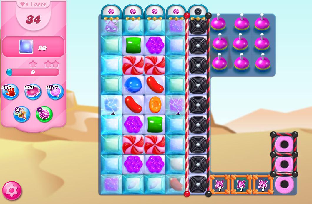 Candy Crush Saga level 8974