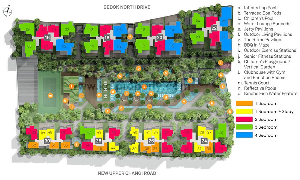 Bedok Residences Sitemap