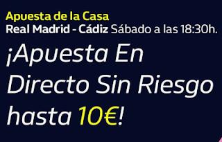 william hill Apuesta de la Casa | Real Madrid vs Cádiz 17-10-20