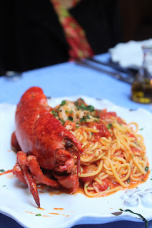 Spaghetti All'astice Half Maine Lobster With Homemade Spaghetti In A Sauce Of Lobster, Cherry Tomato And Brandy at Palma