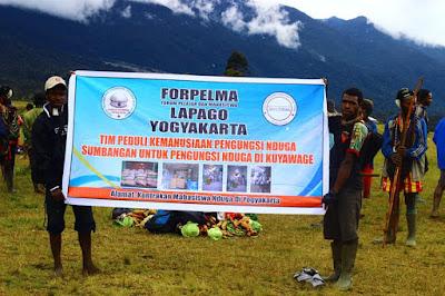 Bantuan Kemanusian untuk Pengungsi Nduga di Kuyawage