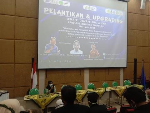 Pelantikan dan Raker Lembaga Mahasiswa FST Sukses Digelar Semi Offline