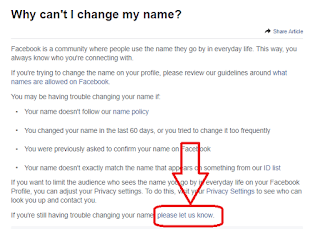 change facebook name before 60 days limit@myteachworld.com