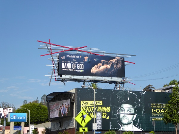 Hand of God series premiere billboard