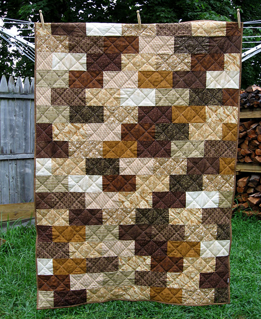 The Brick Wall Quilt designed byLyanna Anderson of Blue Striped Room